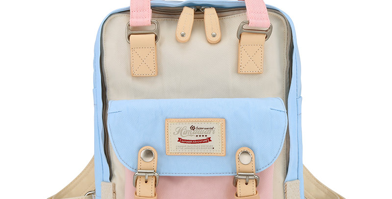 "Himawari Buttercup 11"" Laptop Backpack(HM188S-38)-Cream/Light Blue"