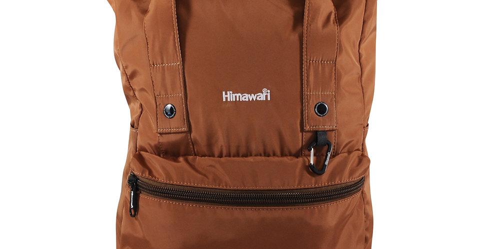 """Himawari Juniper 15"""" Rolltop Backpack-Coffee Brown"""