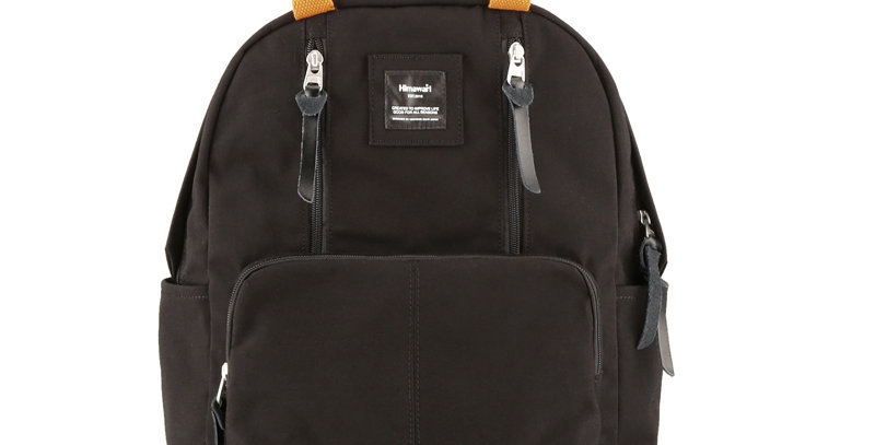 Himawari Freesia Laptop Backpack (186)-Black