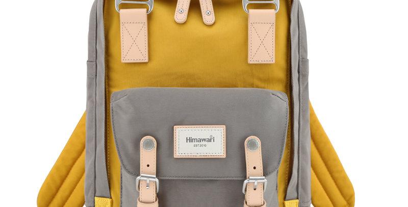 "Himawari Buttercup 14"" Laptop Backpack(HM188L-51)-D.Gray/Yellow"