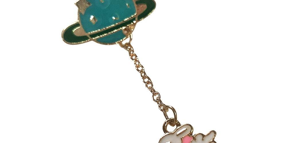 """Bunny Universe"" Bag Pin"