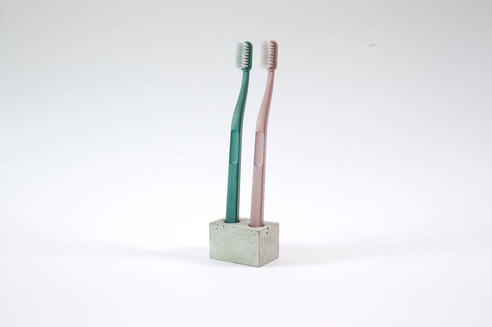 Double toothbrush holder