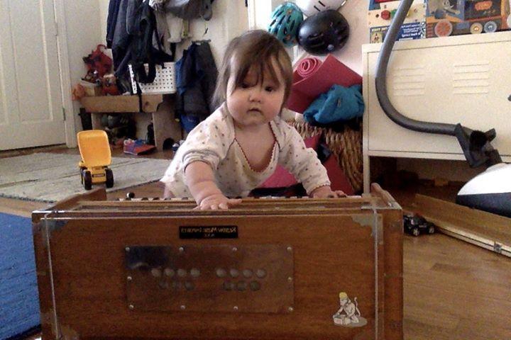 A 6-month-old Kirtan wallah!