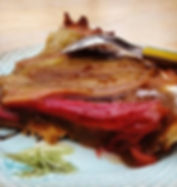 tarte rhubarbe crème d'amande amaretto dessert maison salon de thé