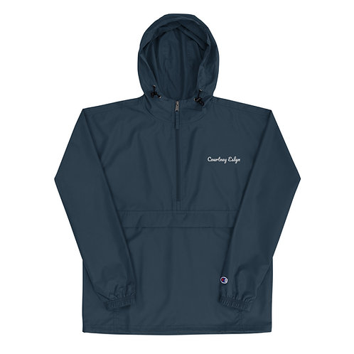Courtney Eslyn Embroidered Champion Packable Jacket