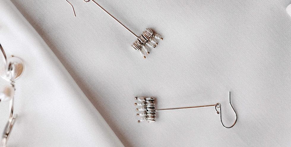 Pearl Broom Earrings