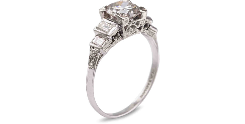 1920's Vintage Platinum Engagement Ring