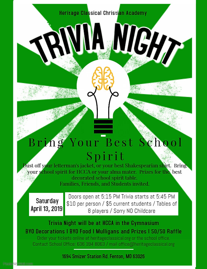 Copy of Vintage Trivia Night Poster - Ma