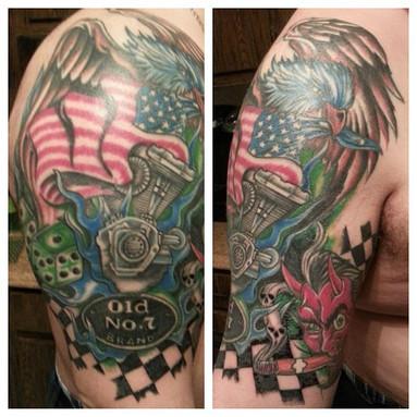 Gallo_harley davidson tattoo