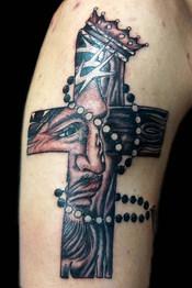 Gallo_Christ in Cross Tattoo
