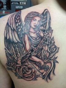 Gallo_angel tattoo