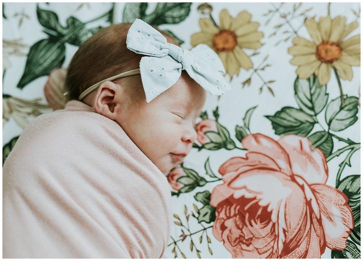 In-Home Newborn Baby Girl: Salt Lake City Newborn Photographer