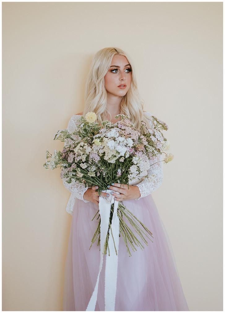Purple Spring Bridal Inspo: Utah Wedding Photographer