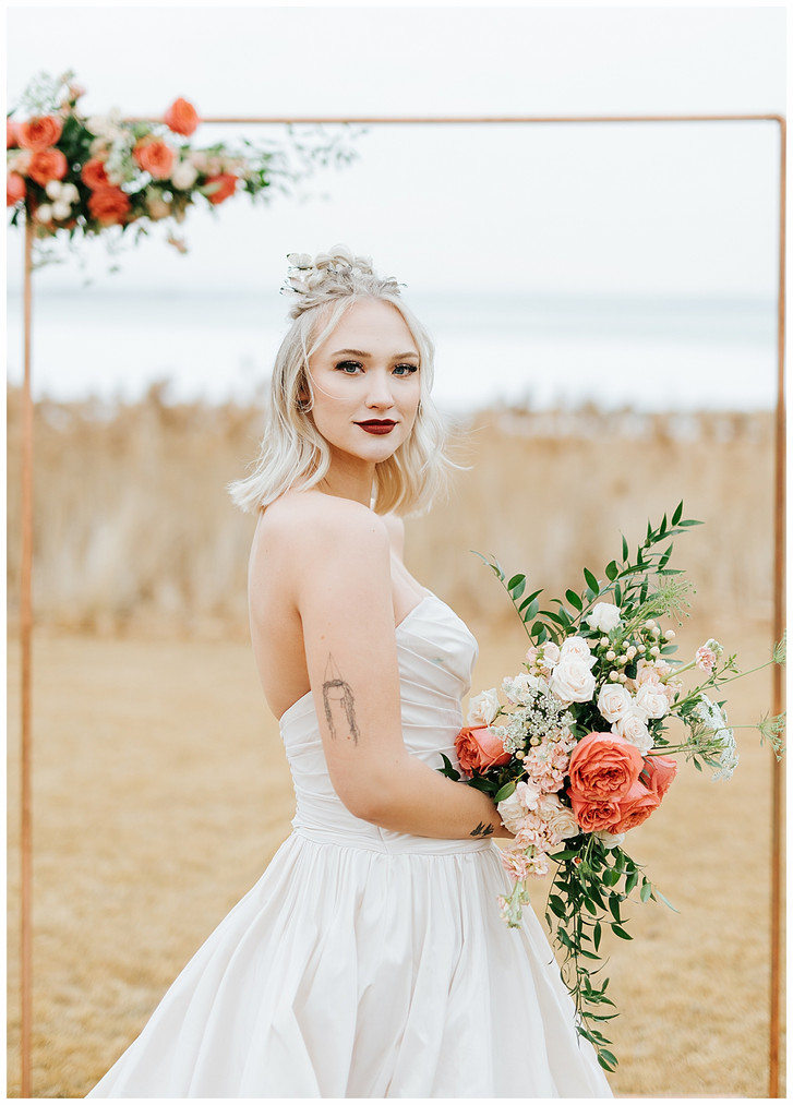 Romantic Butterfly Bridal Session: Utah Lake