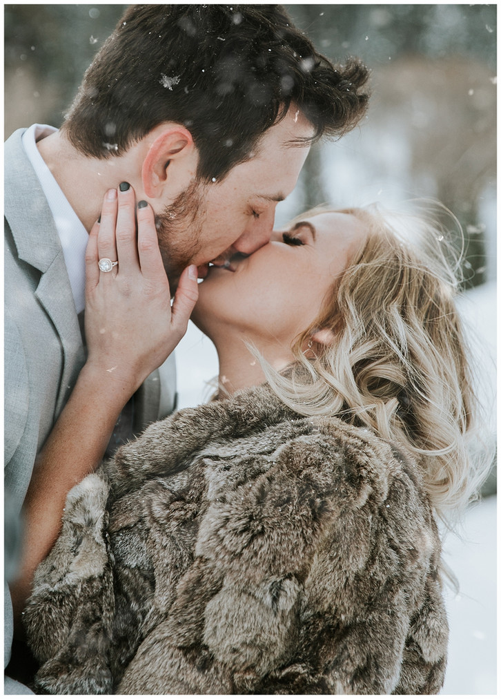 Snowy Mountain Bridals: Utah Wedding Photographer