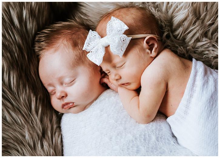 Utah Newborn Photographer: Cousin Newborn Pictures