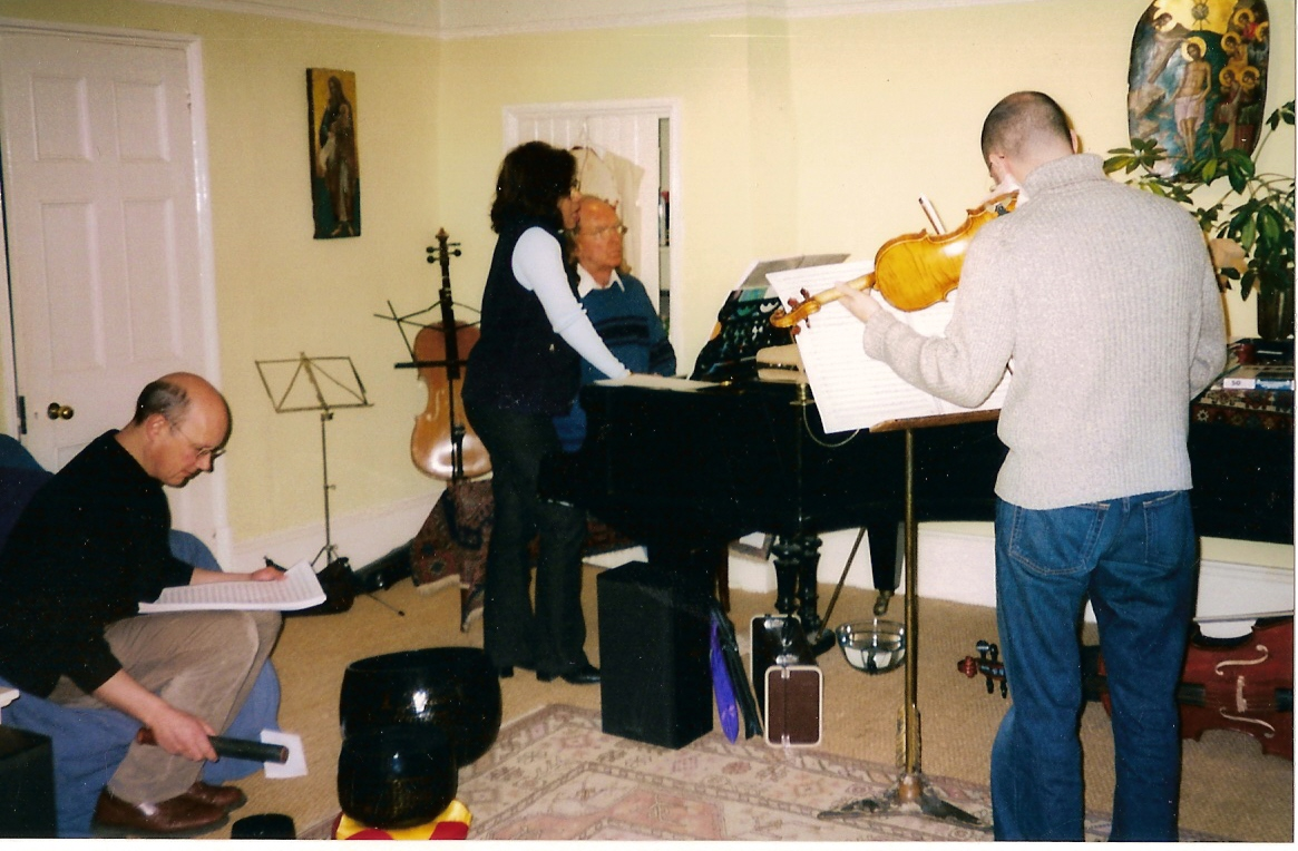working with Sir John Tavener and Patricia Rosario