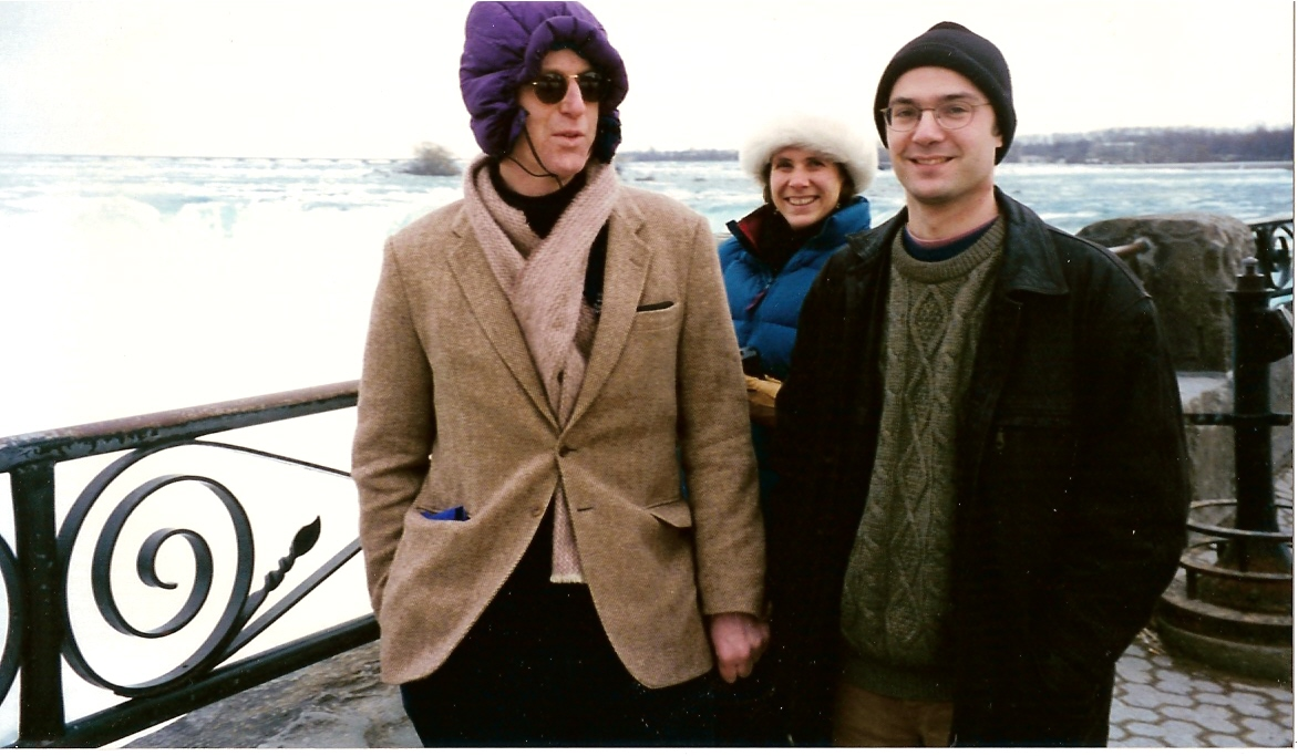keeping warm at Niagra Falls March 97