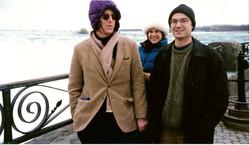 keeping warm at Niagra Falls March 97
