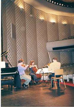 rehearsing at Caltec, Los Angeles Jan 99