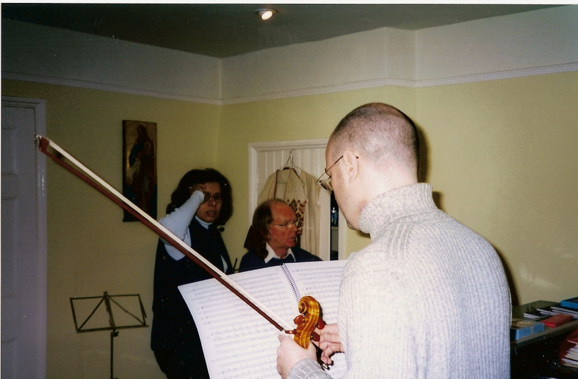 working on Schuon Leider with Sir John Tavener