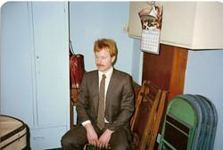 Peter backstage, Hong Kong 1985