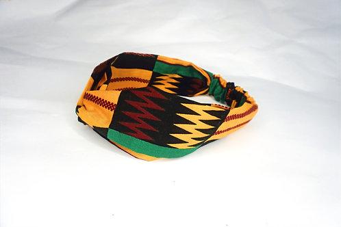 Ashanti Black Turban Headband