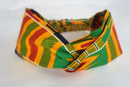 Ga Green Turban Headband