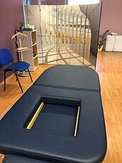 Schwangere/Massage/Bauchlage