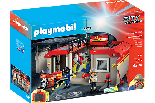 Playmobil Take Along Fire Station 5663