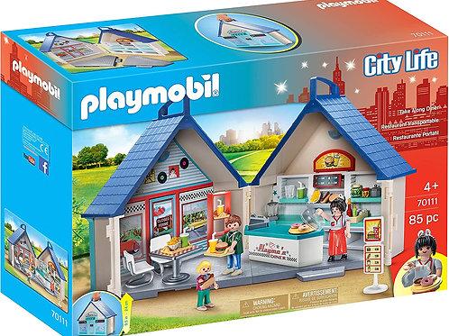 PLAYMOBIL Take Along Diner 70114 Play Set