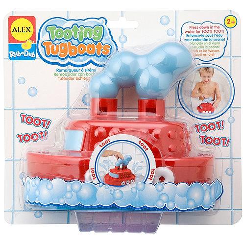 Alex Rub A Dub Tooting Tugboat Bath Toy