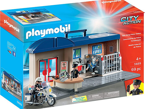 PLAYMOBIL City Action Take Along Police Station 5689 Play Set