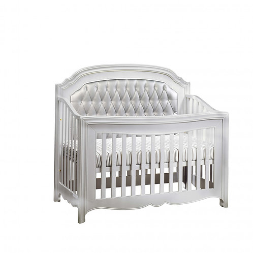 Alexa Convertible Crib with upholstered panel
