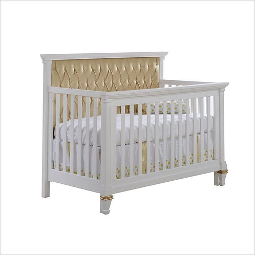 NATART BELMONT '5-IN-1' CONVERTIBLE CRIB WITH TUFTED PANEL IN DUSK
