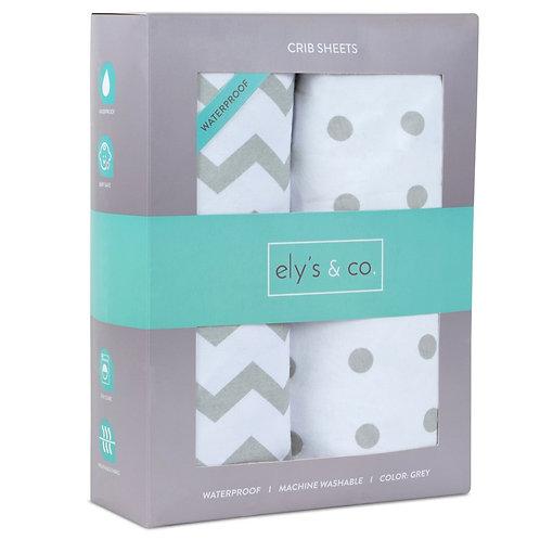 Crib Sheet Set Waterproof ely's & co