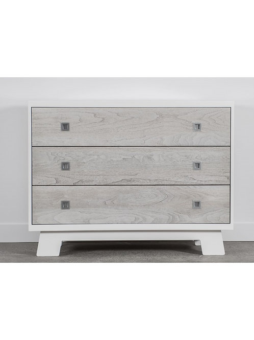 Pomelo 3 Drawer Dresser - White & Rustic Grey