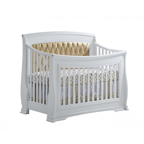 Bella Gold Convertible Crib with Upholstered Panel