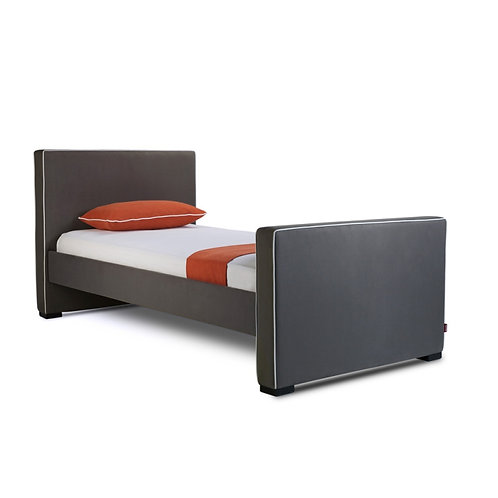 Dorma - Twin Bed - Bonded Leather - High HB + High FB