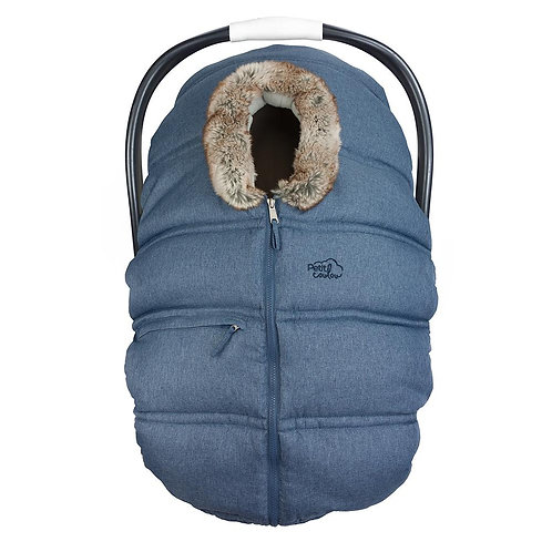 PETIT COULOU Winter Cover Denim Wolf Fur