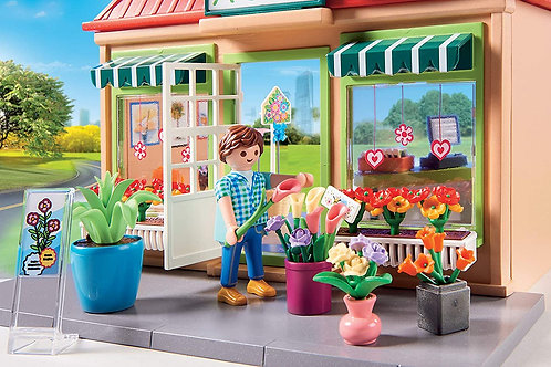 Playmobil My Flower Shop Playset, Colourful 70016