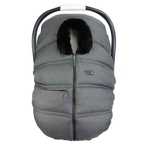 PETIT COULOU Winter Cover Dark Grey Black Fur