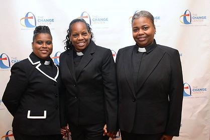 Minister Kimberly Jones, Deaconess Shirley Pugh, Evangelist Yvette Richardson