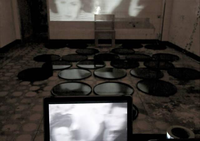 Re-fragmentation, 2014 Intervention on the installation of Mario Palacios Kaim and performative actions.  With the valuable collaboration of Mario Palacios, Gabriela Gutiérrez, Perla Krauze, Paul Muguet, Saúl Kaminer and Mónica Castillo.