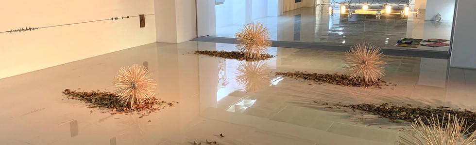 Caosmosis, 2020 Multimedia installation 8.85 x 16.40 x 26.24 feet 2.70 x 5 x 8 m At Modern Love vo. 4 art fair. Mexico City, Mexico.