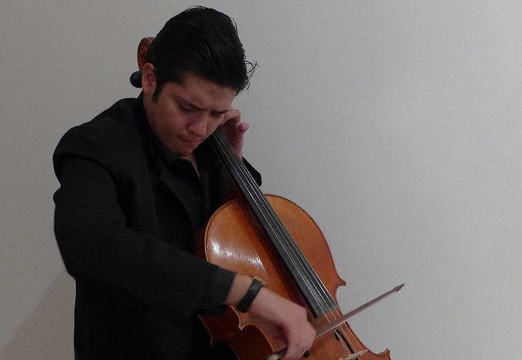 Fate, 2017. Multidisciplinary performance. Violonchelist Miguel Angel Villeda Cerón.