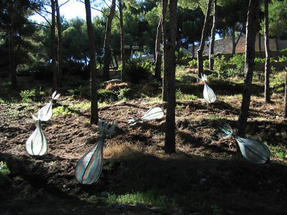 Endemics, 2008 Intervention at Temps Memòria VII Estiu Art Intervencions plàstiques. Project held at the gardens of the Castle of Denia, Alicante. Spain.