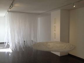 Sudden Downpour, 2013. (at Galería Cuarenta y Cinco. Guadalajara, Mexico) Penetrable installation. 3.20 x 2.00 x 200 m.  10.49 x 6.56 x 6.56 feet.