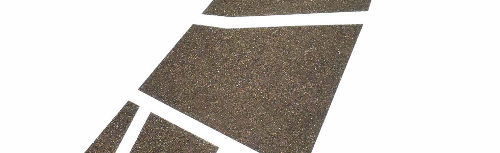 Perimeter I, 2018 Contaminants and heavy metals on paper. 26.37 x 17.71 inches.  67 x 45 cm.
