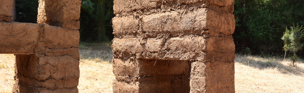 Disolution 2018-2019 (detail) Ocoxal, straw, sheep lama, cement and soil.  234 x 530 x 4 m Valle de Bravo, State of Mexico. Mexico.